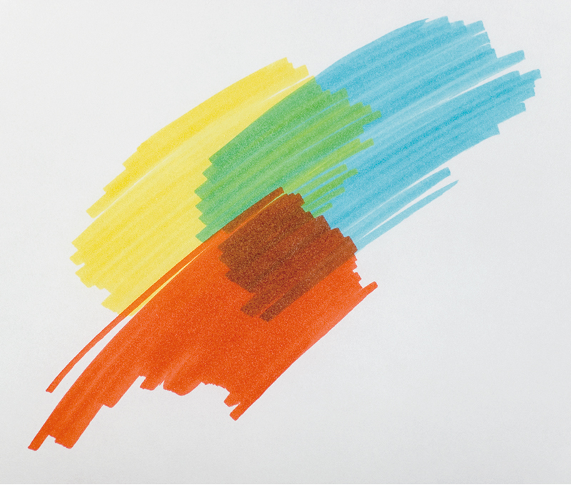 Suitable for such things as layering marker colors