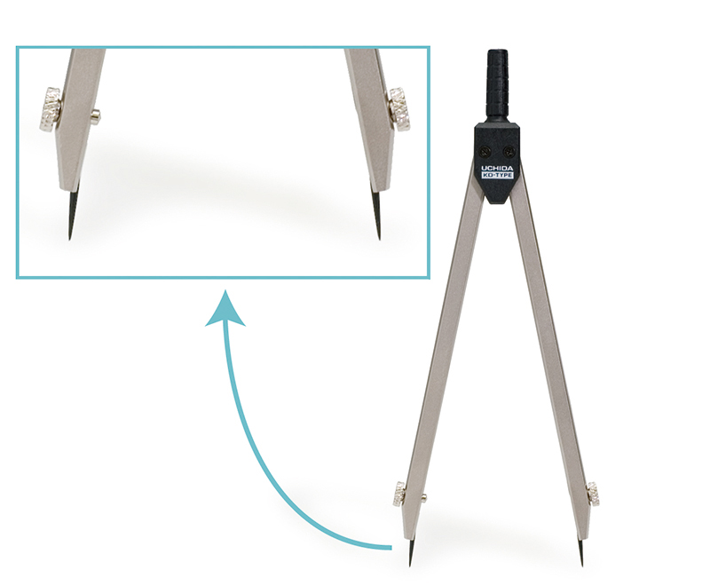 A divider has needles on both legs