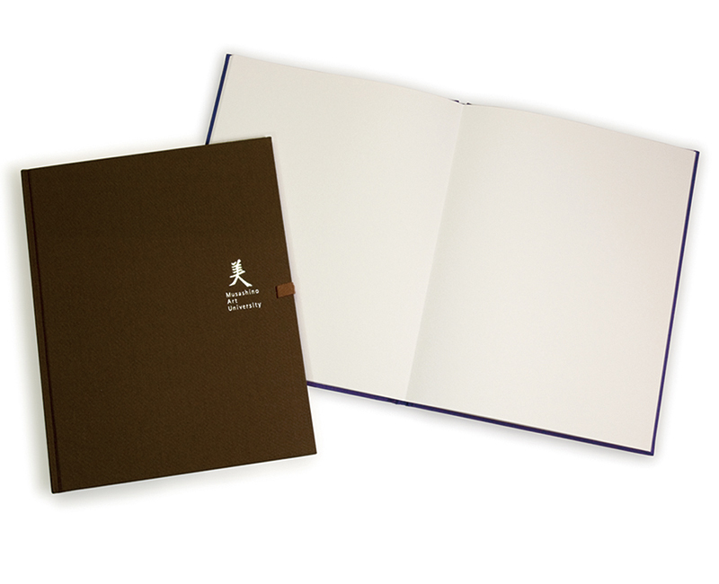 A sketchbook in which the front and back of consecutive pages form a single surface