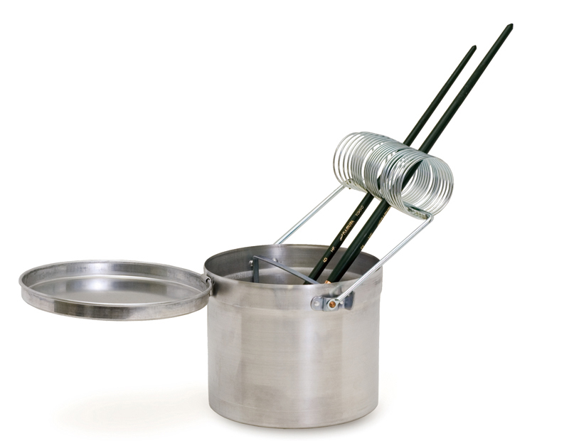 Brush stand-type brush-cleaning container