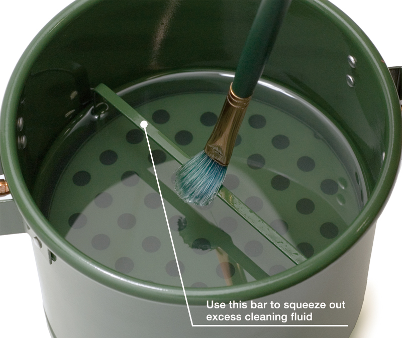 The structure of a brush-cleaning container