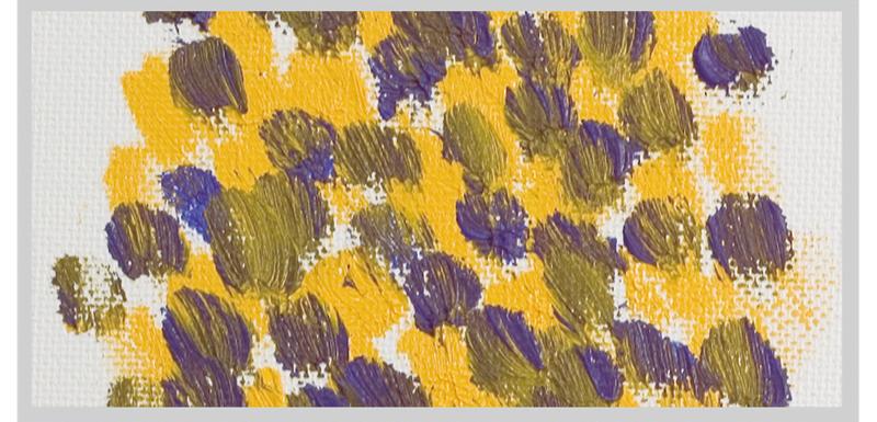 Colors mixed visually using dots