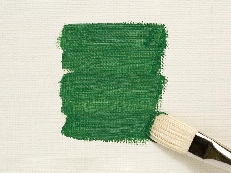 Making broad, even strokes (flat brush)