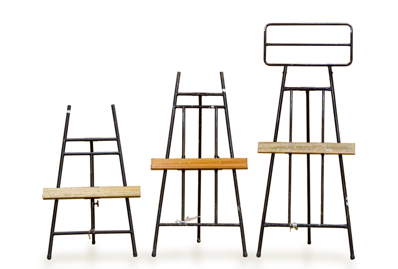 Indoor easels in use at Musashino Art University