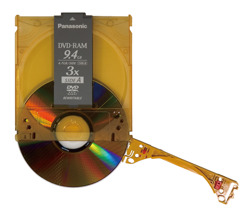 If the disc is removed from the cartridge, it can be used on a normal drive.