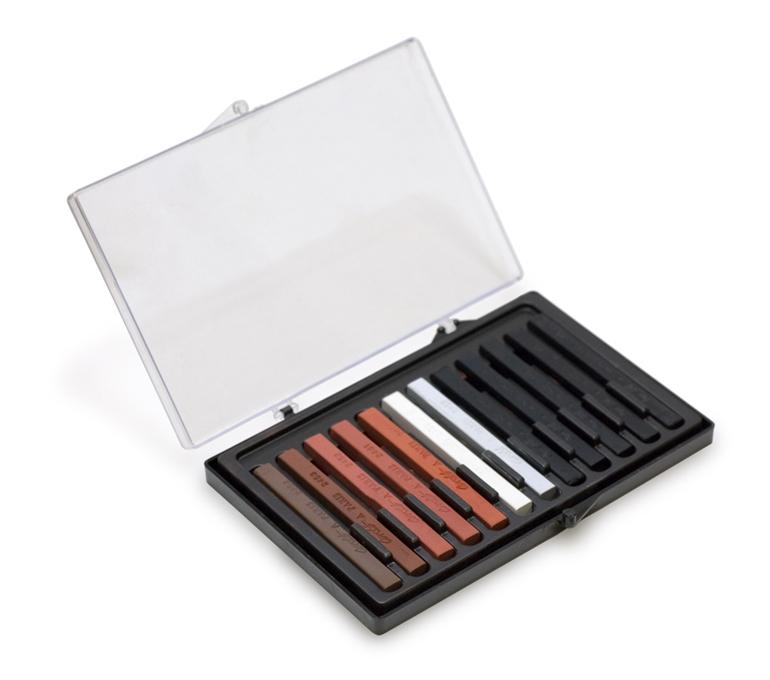 Conté crayons in various colors