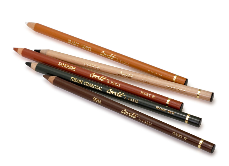 Pencil-type Conté crayons