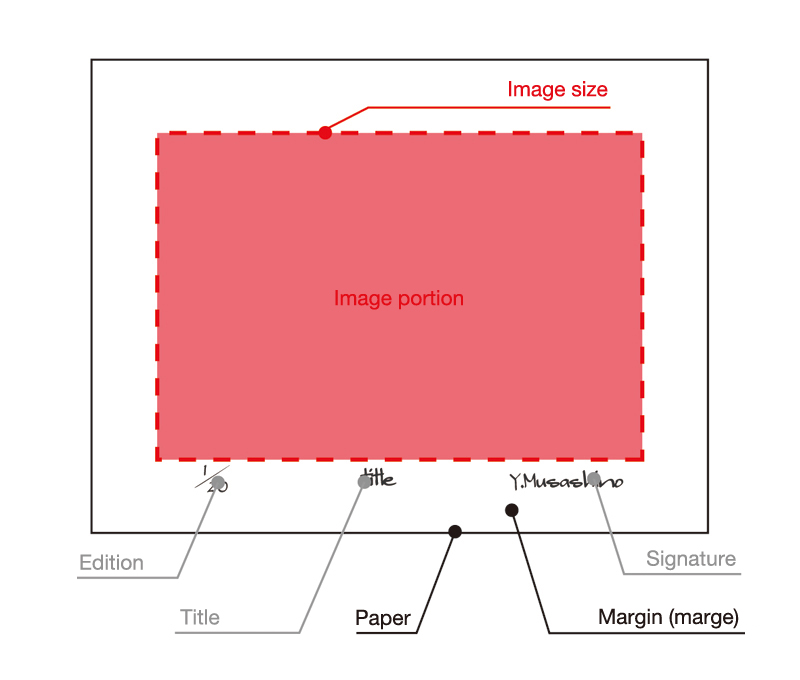 The image size of a print
