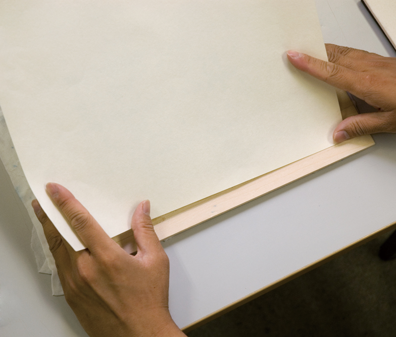 How to align paper with an uchi kento