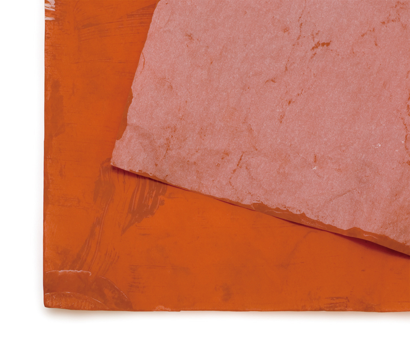 Printmaking: Red iron oxide transfer paper