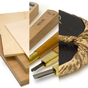 Woodcut Printing Implements
