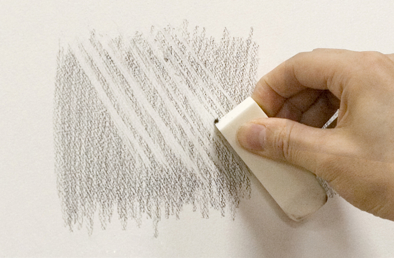 Making lines with an eraser