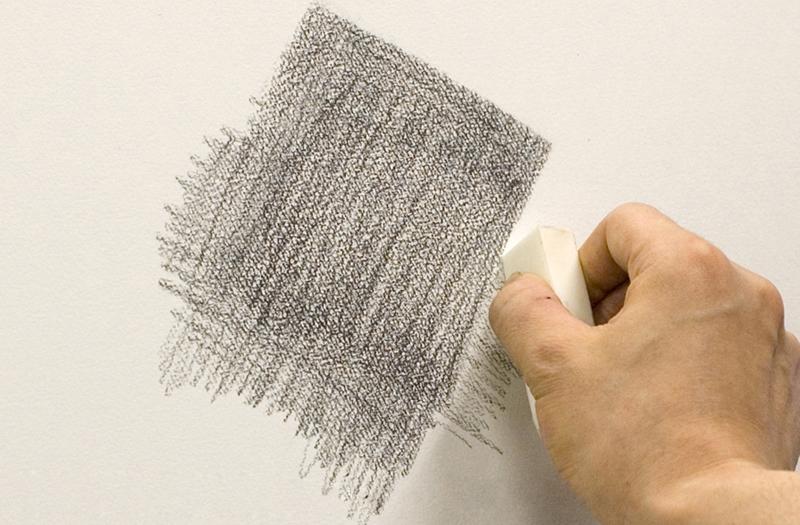 Sharpening an edge with an eraser