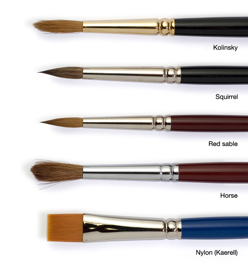 Watercolor Brush Types Watercolor Painting Tips - Bob Hairstyles For Round Faces And Thick Hair