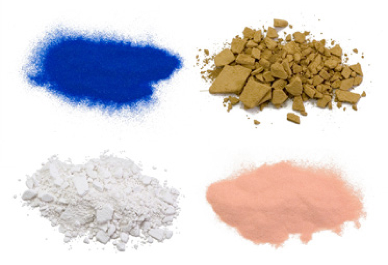 Pigments used in Japanese painting (mineral pigment, mud pigment, chalk, etc.)