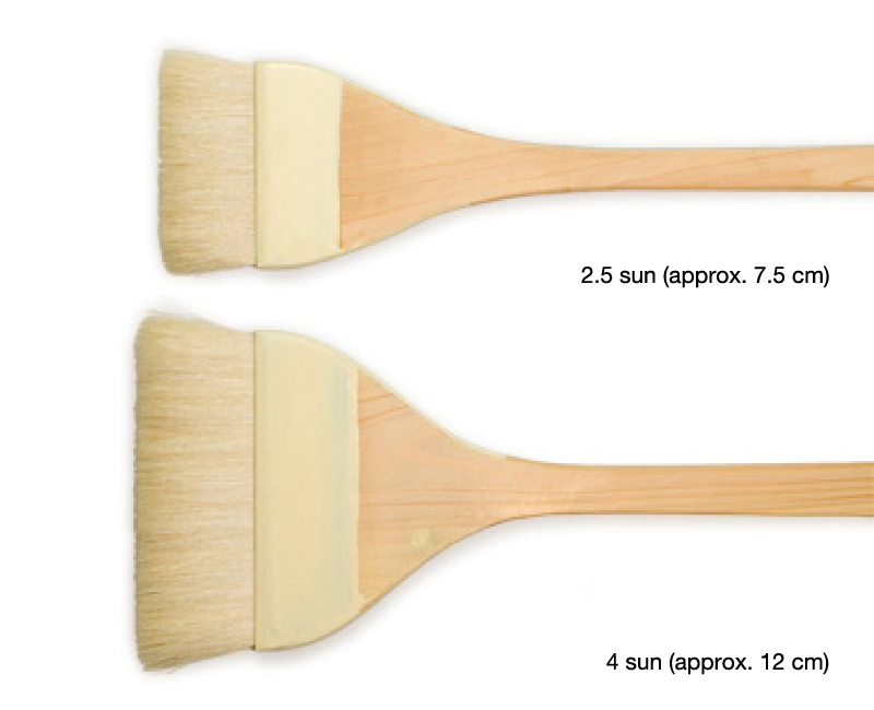Sizing brush