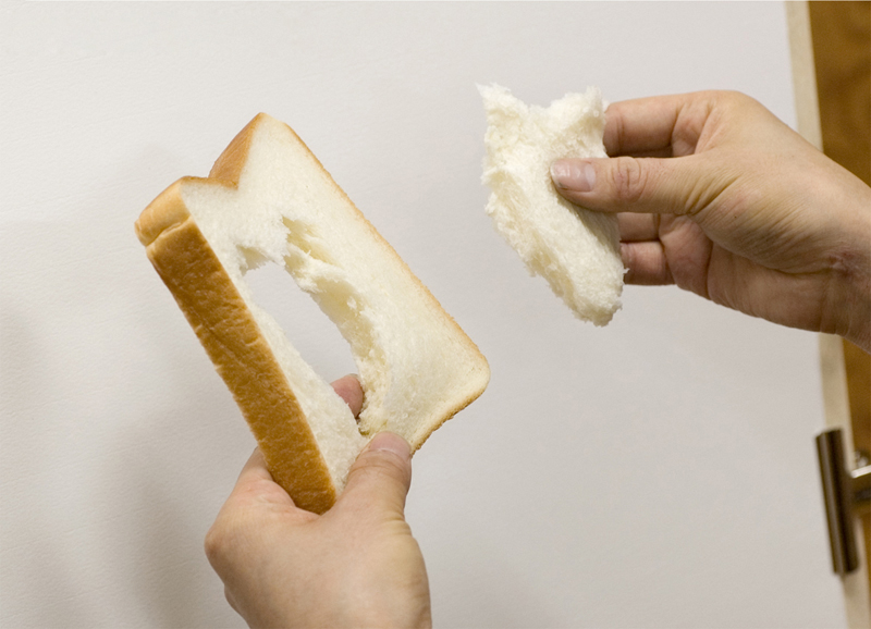 Use the white part (middle) of the bread