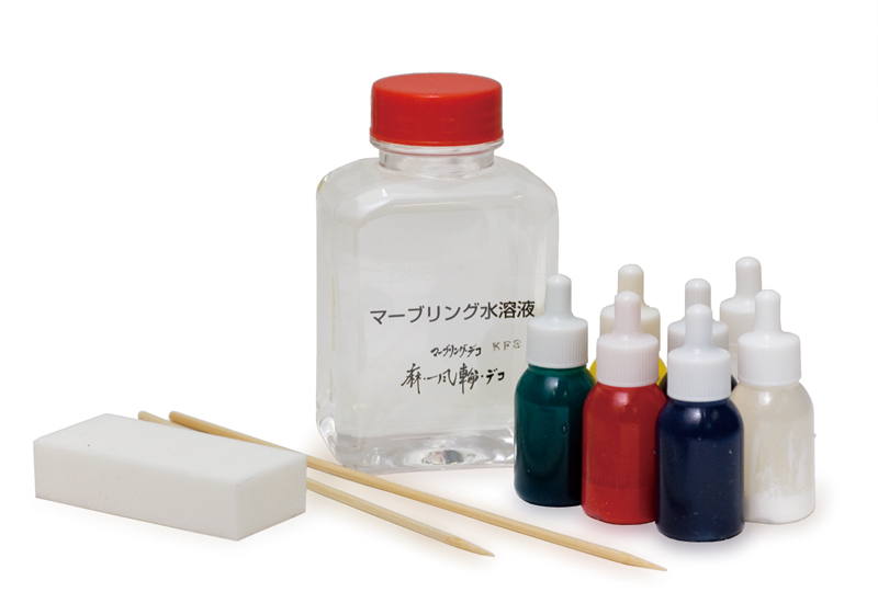 Commercially available marbling kit
