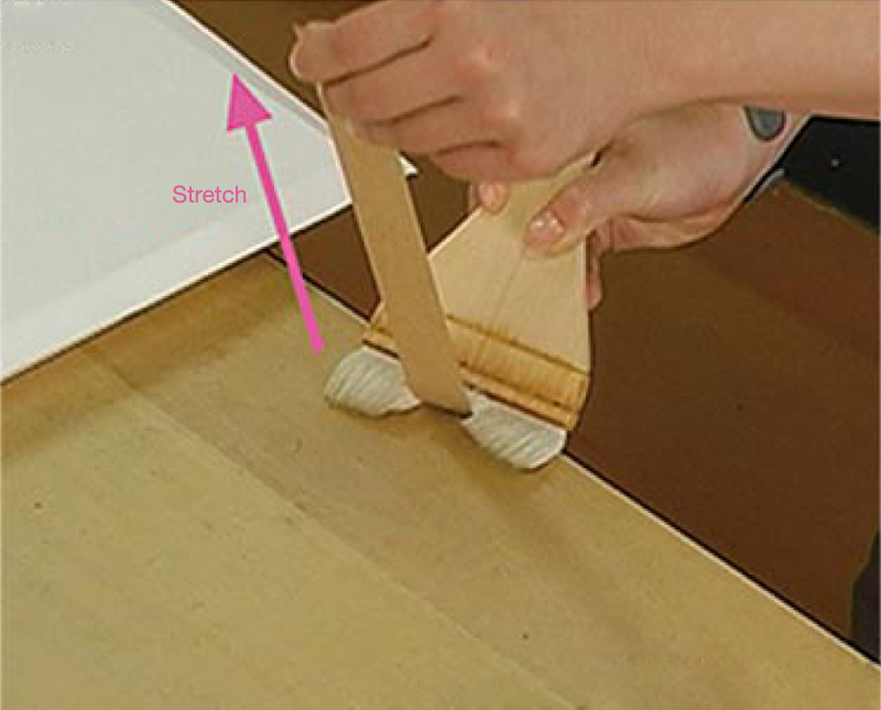 Example 2: Using the edge of the desk will make the job easier.