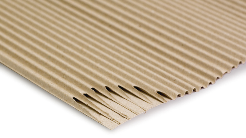 Single face corrugated cardboard