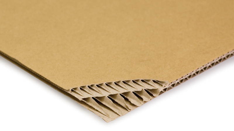 Double wall corrugated cardboard