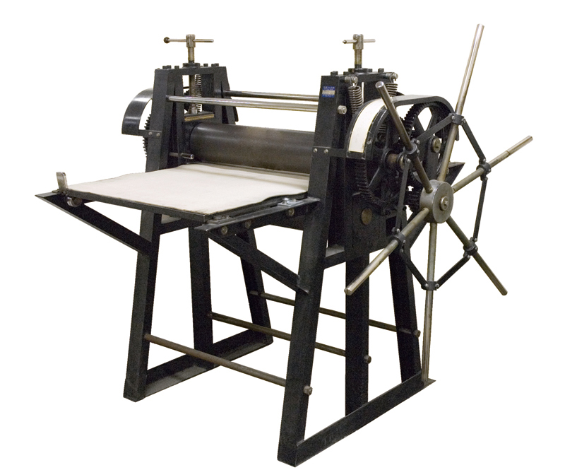 Intaglio printing press